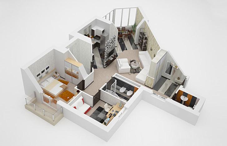 Вариант представления своей квартиры в 3D